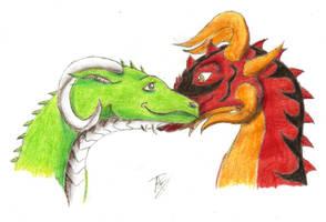 Angelus and Calliope by DrakenAngelus2