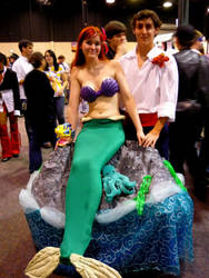 Ariel and Prince Eric by DemonSlayerCosplay