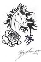Horse, My Rose Dream by Naitachal666