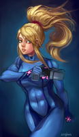 Uh Samus Aran by Zeighous