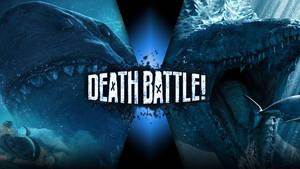 Death Battle Megalodon vs. Mosasaurus by 8670310