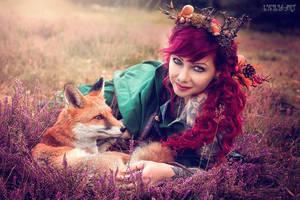 autumn  Fox by Drastique-Plastique