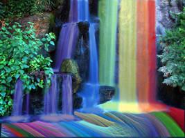 rainbow waterfall by frogloop123