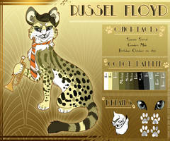 Russel Floyd: Reference Sheet 2014 by RussianBlues