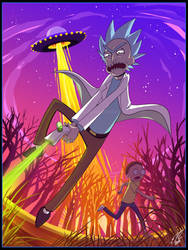 A Giant Killer Sombrero is Attacking Us, Morty! by RussianBlues