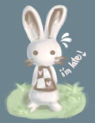 Wonderland: White Bunny by jinnybear