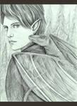 Elf Hunter w Dragon Hound by MsAlayniousCreations
