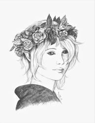 Silver Doe Girl by MsAlayniousCreations