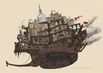 Mortal Engines - London by sketchy-doodles