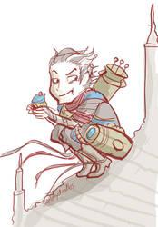 Ral Zarek - cupcake by sketchy-doodles