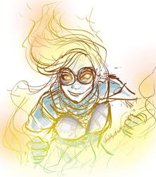 Chandra uses goggles..sometimes by sketchy-doodles