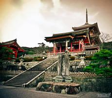 At Kiyomizu temple by Gallynette