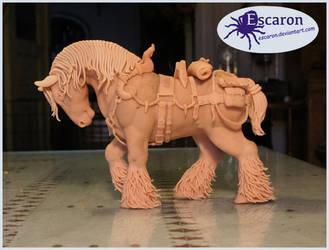 WIP3 - (NOT headless) gypsy horse by Escaron