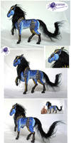 COMM: Of Blue - Mixed Media Sculpt by Escaron