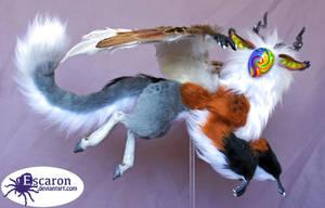 My Spiritual Companion Corona - Art Doll by Escaron