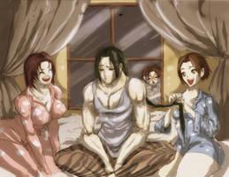 Sleepover at Long Sensei's place!! by Neko-Minos