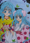 Princess Yuri and Maimai by IrisTechn