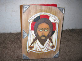 Mandylion faced Templar Bible by vonmeer