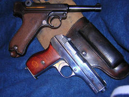 WWII PM 27 and P08 Luger by vonmeer