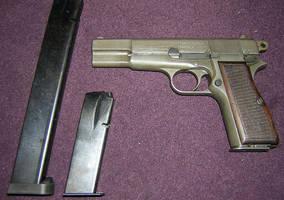 WWII German used FN Hi Power by vonmeer
