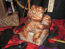 Copper Tsathoggua Idol by vonmeer