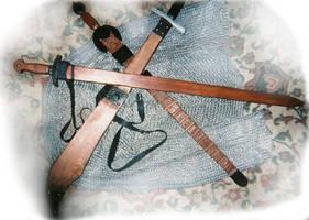 Saracen sword props by vonmeer