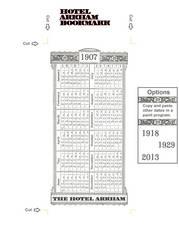 Hotel Arkham Calender Bookmark (front) by vonmeer
