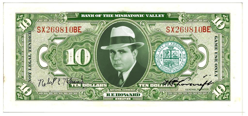 Play Money ($10) RPG/LARP /MISKATONIC VALLEY BILL by vonmeer