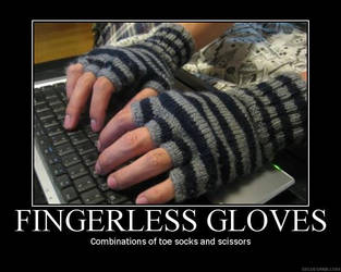 Fingerless gloves poster by Firegale
