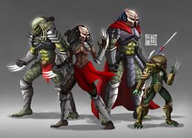 Yautja Warriors by Wenart