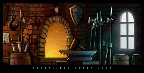 Blacksmith room by Wenart