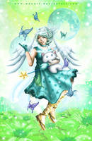 The Faerie and the Buttertfly by Wenart