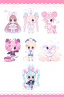 cute adopts batch 7 set price (closed) by boniru