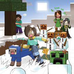 Minecraft Calendar Contest - Snowball Fright by TwilitAngel