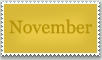Stamp: November by emerlyrose