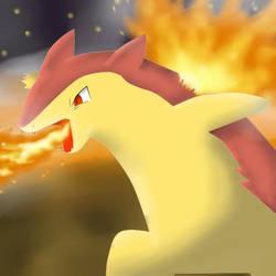 Pokemon - Typhlosion Shiny by cyndaquil1998
