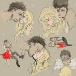 Kissing Practice by sicksaylir
