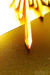 Golden Pencils by exoRICE