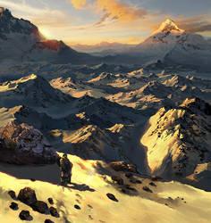 Snow Mountain by friendhaircut