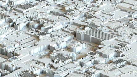 SFI / Fantasy / Surreal  City pre rendering by Bernd-Haier