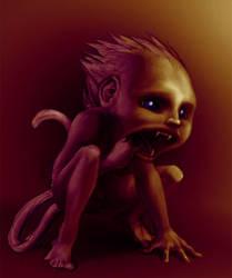 imp-monkey-thing by curlhead