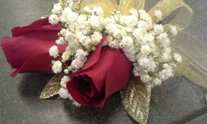 Double Red Rose Wrist Corsage 2 by pippierafrostlin