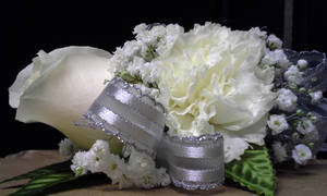 Mixed Flower Corsage - White Rose/Carnation by pippierafrostlin