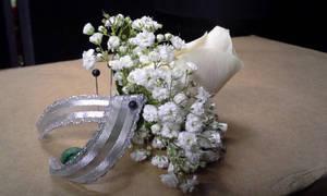 Silver Single Rose Bout by pippierafrostlin