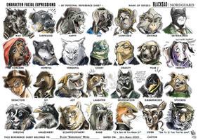 Facial Expressions Buddy Sheet (Application #01) by darkspeeds