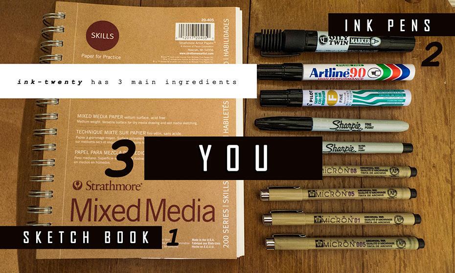 The three ingredients to 'ink-twenty' by darkspeeds