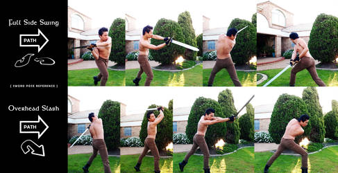 Sword Poses for Art Reference (Set 3) by darkspeeds