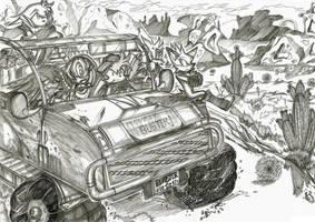 Hittin' The Dusty Road by darkspeeds