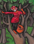 Calico Is On A Tree by calicokatt