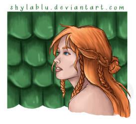 Tenel Ka Sketch by ShylaBlu